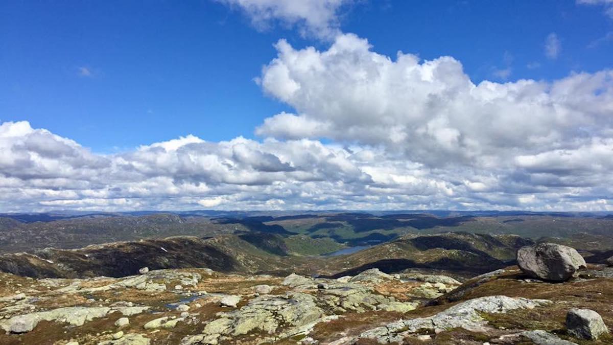 Utsikt fra toppen avSkoræ
