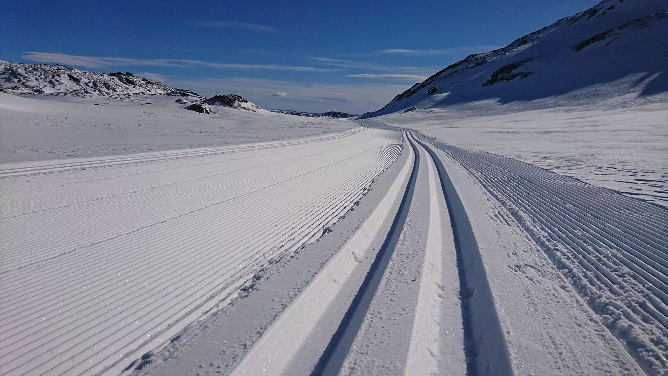 Strøkne Skispor Etter Påsken.