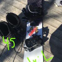 Slalom ski, twintip, snowboard til salgs